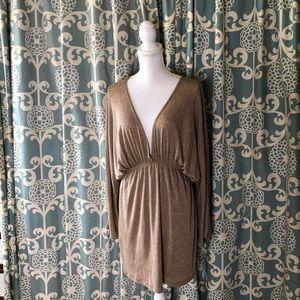 Arden B. Gold Metallic Dress